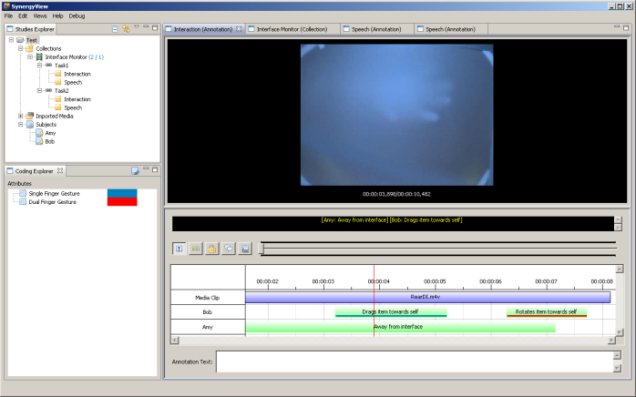 An example of SynergyView in use
