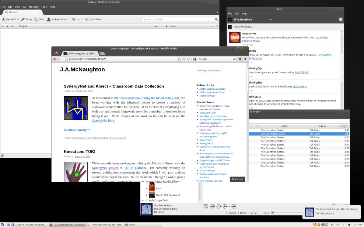 The Boomerang Duex theme with Googol buttons on Xubuntu 12.10