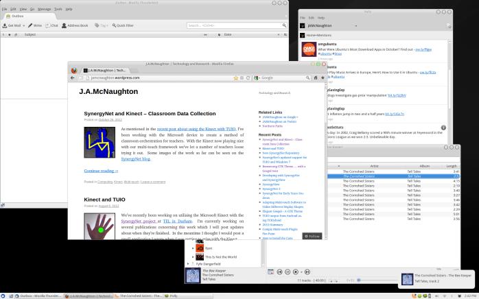 The Boomerang theme with Googol buttons on Xubuntu 12.10