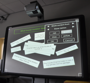 The multi-touch board used in the study.